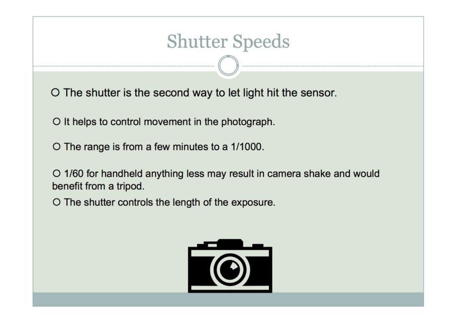 understanding shutter speed aperture ISO
